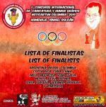 Finalist list of the 5th International Cartoon and Graphic Humor Contest - NOTICARTUN/ COLOMBIA 2019